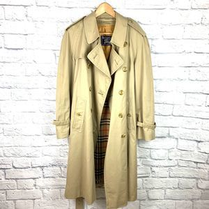 Vtg Burberry's Men's Trench Coat Sz SHT 40 Nova Ck